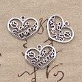 15 шт Подвески Сердце Super Mama 20x26 мм Античные посеребренные Подвески Изготовление DIY тибетское серебро ручной работы цветные ювелирные издели...