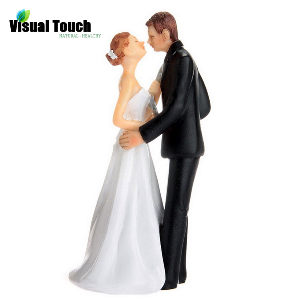 Visual Touch Romantic Bride and Groom Toppers Couple Figurine ...