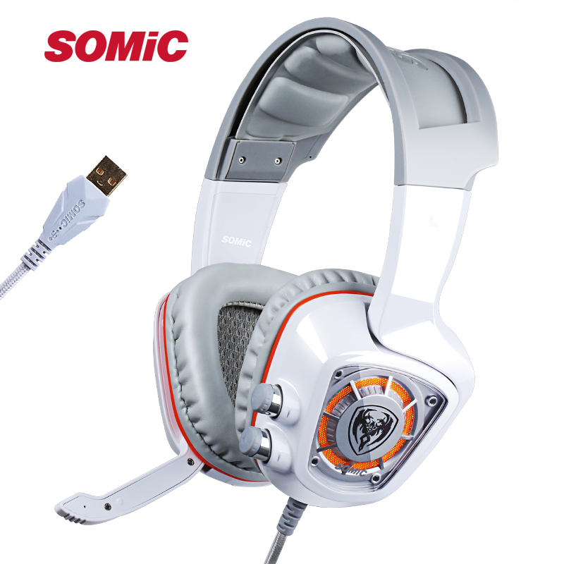 Somic G910 Led Virtual 7.1 Surround Sound Usb Gaming Headphone Stereo Vibration Headset With Microphone For Cf Lol Pc Games Great Varieties