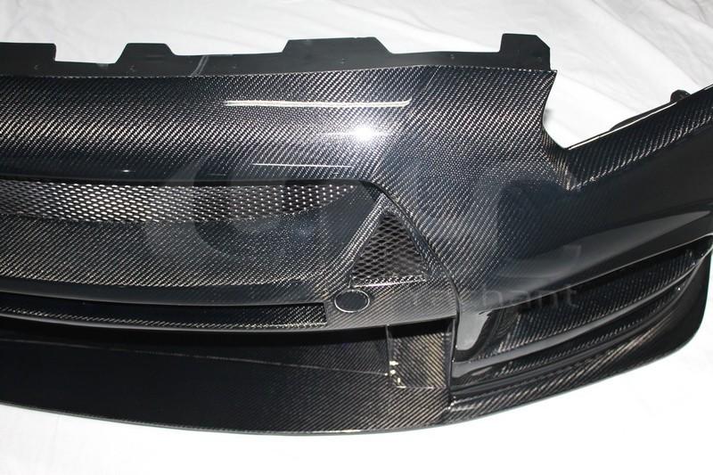 2008-2013 Nissan  R35 GTR CBA DBA TP Style Wide Front Bumper CF (7)