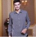 Высокого класса, мужская шелковая рубашка с длинными рукавами ханчжоу полноценно 100% подлинные шелковицы шелковая рубашка в шелковый атлас блокбастер