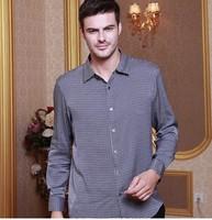 Высококачественная Мужская шелковая рубашка с длинными рукавами Ханчжоу полноценно 100% Аутентичные шелк тутового шелкопряда рубашка в шел