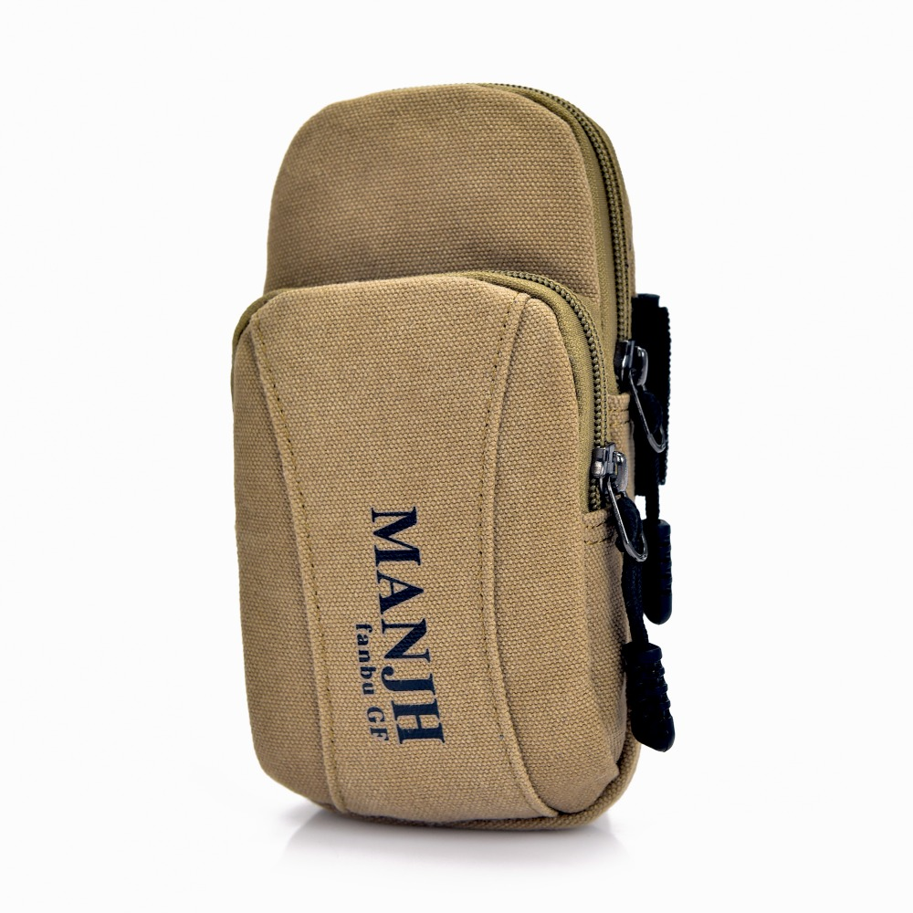 Vintage Retro Canvas Men Wallet Small Key Wallet Purse Male Zipper Arm Wrist Bag Casual Women Coin Purse Mobile Phone Bag 1197-2