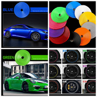 Car Styling Tire Tyre Rim Care Motorcycle Protector Hub Wheel Stickers Tape Strip For BMW Volkswagen