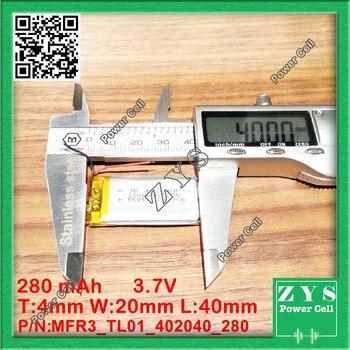 1 pcs. bateria li-ion 3.7 v 280 mAh bateria recarregável 3.7 v 280 mAh
