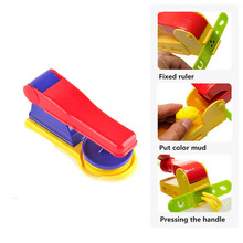 3Pcs/set Learning education  children playdough mould tool Kit color mud machine  tool Kids puzzle  clay plasticine   toys