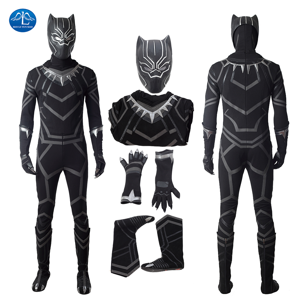 ManLuYunXiao 2018 New Arrival Black Panther Cosplay Costume Halloween Costumes Black Panther Costume Custom Made Free Shipping