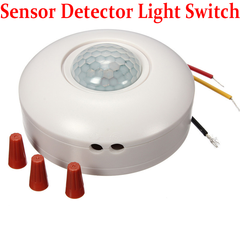 Hight Quality AC 220V 120 Degree Sensor Switch Sensor Detector Automatic Light Lamp Switch Flush PIR Ceiling Occupancy Motion high quality 360 degree ceiling 110v ac 220v ac inlay sensor switch pir infrared motion sensor light lamp switch 1pc et041