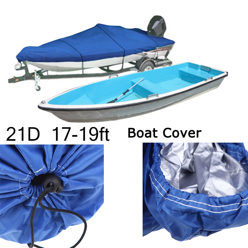 11-20FT Heavy Duty Trailerable Fish Ski Boat Cover 210DWaterproof Beam V-Hull