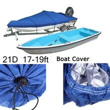 17ft-19ft 20ft-22ft сверхмощный 210D Trailerable чехол для лодки водонепроницаемый рыболовный лыжный бас скоростной катер V-shape Синий Серый чехол для лодки