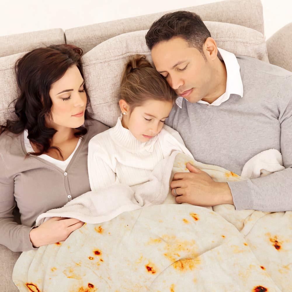 3D Corn Fleece Microfine Burrito Blanket Made of Flannel Fabric For Travel Use 1