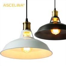 Loft pingente lâmpadas luzes pingente industrial do vintage edison lâmpada pendurada e27 110 220 v para casa restaurante decorar sombra de luz