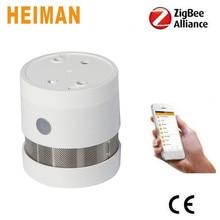 ФОТО heiman 10 years zigbee wireless fire alarms smoke detector smoke sensor with replaceable battery hs3sa