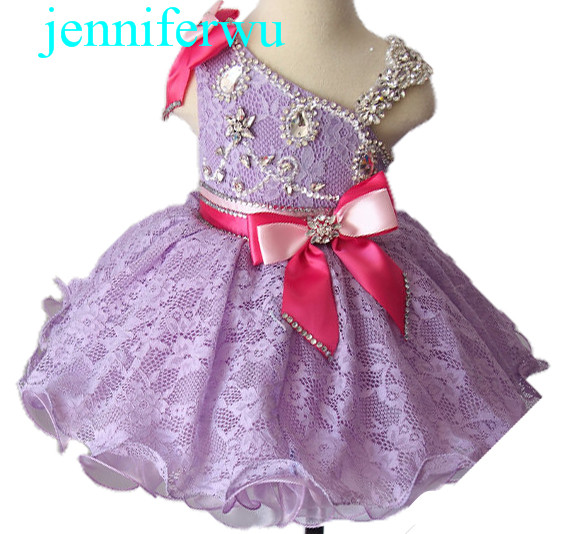 baby doll skirt baby girl pageant dress 1T-6T EB2008D