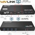 Wavlink Универсальная док-станция USB 3,0 USB-C Dual 4 K Ultra Dock DP Gen1 type-C Gigabit Ethernet Расширенный и зеркальный режим видео