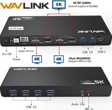 Newest Technology Wavlink USBC 6*USB3.0 5K Universal Docking Station HDMI HD Multiple Laptop Display Docking with Gigabit Type C цена