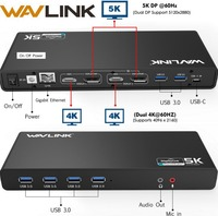 Wavlink Universal USB 3.0 Docking Station USB C Dual 4K Ultra Dock DP Gen1 Type C Gigabit Ethernet Extend and Mirror Video Mode