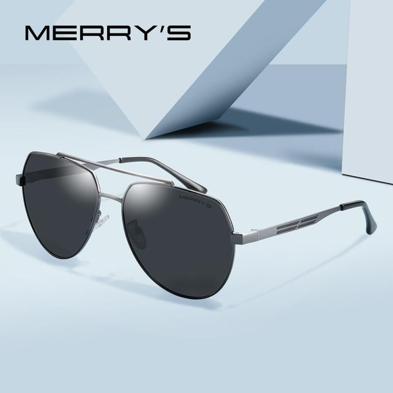 6aa46c5ba6b MERRYS DESIGN Men Classic Pilot Sunglasses Aviation Frame HD Polarized  Sunglasses For Mens Driving UV400 Protection S8175