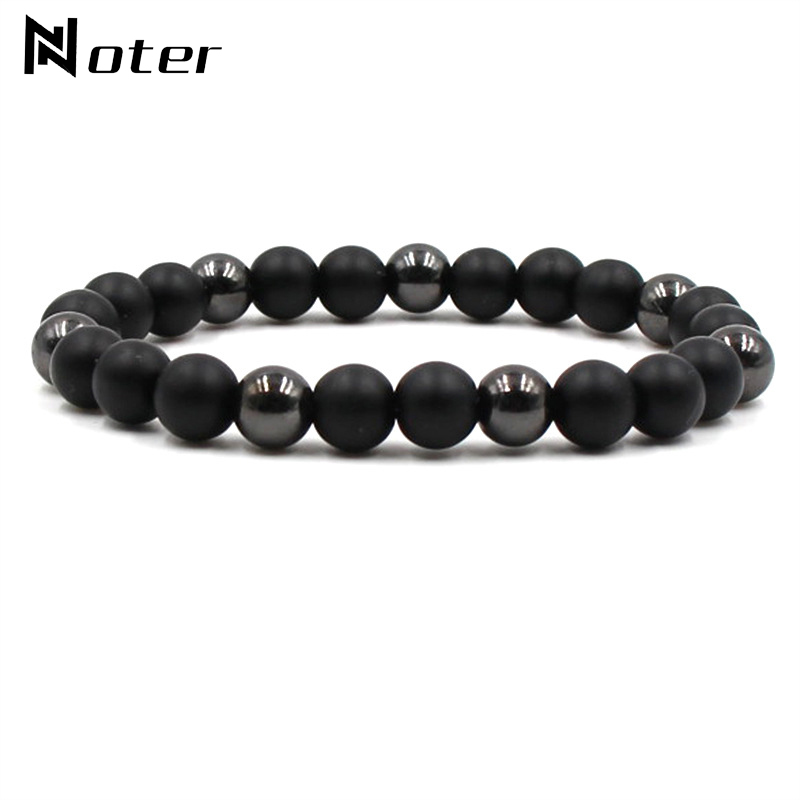 Minimalist Natural Stone Bracelet Men Charm Tiger Eyes Yoga Prayer Braclet 8mm Beads Lava Buddha Braslet Armband Heren Pulseras
