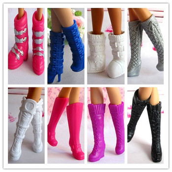 100Pairs/Lot Wholesale Hot Mixed Styles Beautiful High Heel Boots Sandals Dolls Accessories Shoes Doll Boots