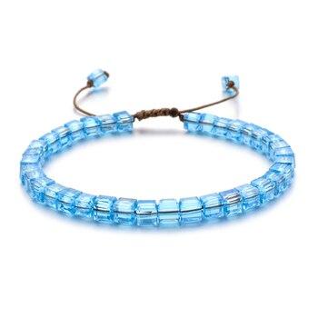 ZMZY Woman Bracelet Wristband Glass Crystal Bracelets Gifts Jewelry Accessories Handmade Wristlet Trinket 3