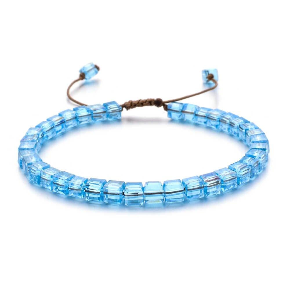 ZMZY nowy modny styl kobieta bransoletka nadgarstek szkło kryształowe bransoletki prezenty biżuteria akcesoria Handmade opaska ozdoba