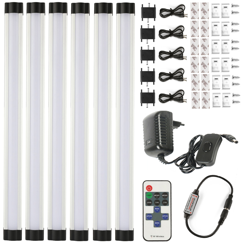 Barre de LED Bande Lumineuse smd 2835 110V 220V 3W * 30cm * 6 Rapide Raccordement Sans Couture barre de LED barre de LED ra lampe comprennent fit kit lampe de cuisine