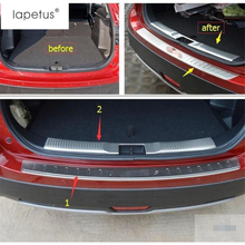 цена на Lapetus Accessories For Suzuki SX4 S-cross 2017 2018 2019 Tail Door Rear Bumper (Inner + Outer ) Sill Plate Molding Cover Kit
