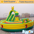 Large Round Inflatable Playground Training Obstacle Course for Kids and Adults