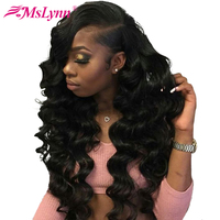Pre Plucked Full Lace Human Hair Wigs Brazilian Body Wave Full Lace Wigs With Baby Hair Mslynn Remy Hair Natural Hairline