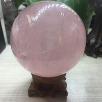 Hot Sell Magic Crystal Ball Quartz FengShui Natural Pink Rose Quartz Crystals Craft Travel Take Pictures Home Decorative Balls