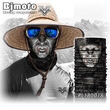2018 Party Tactical Headband Headscarf Wrap Neck FaceShield Mask Bandana Face Mask Shield Fishing Headwear Tube Scarf Skull Head