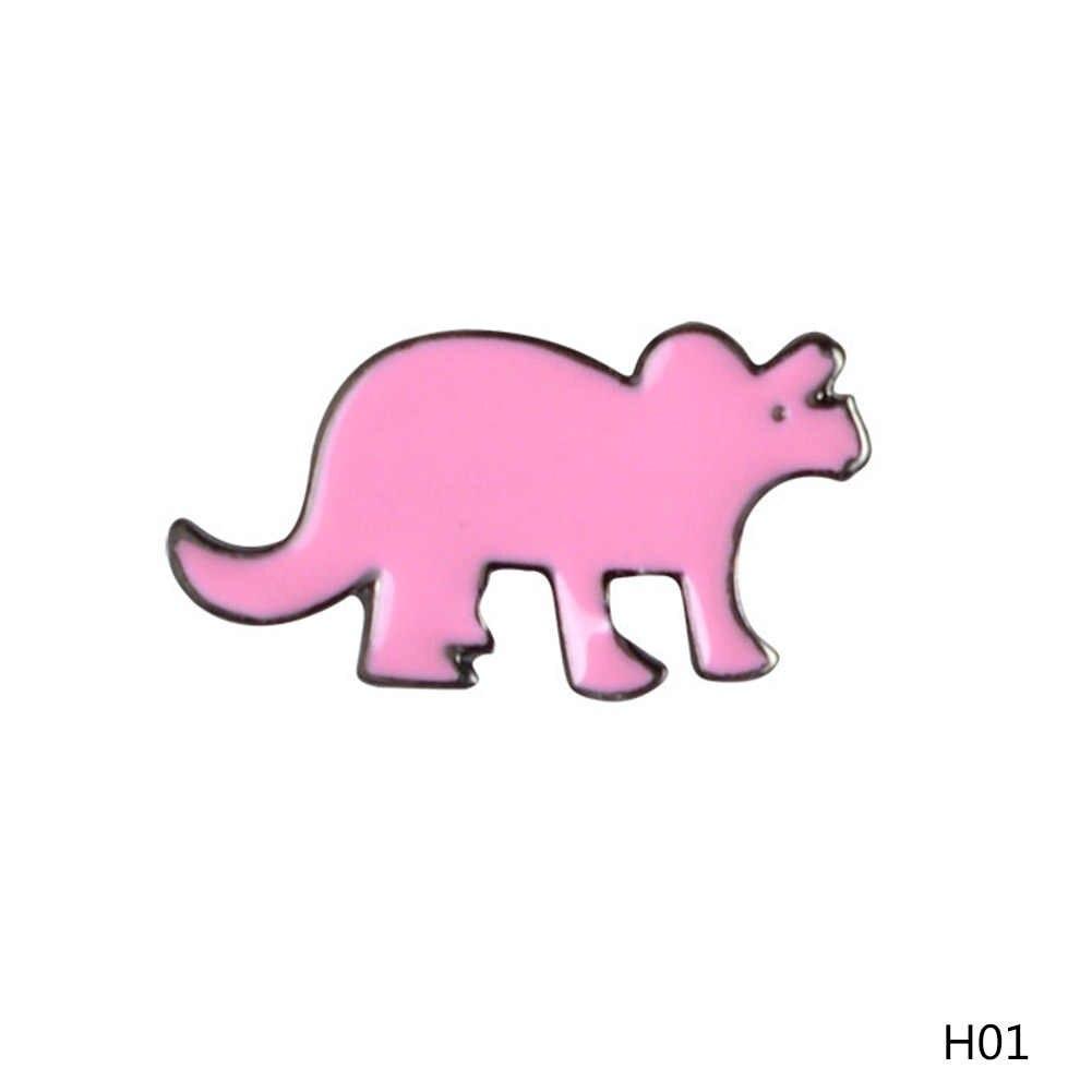 新しい漫画カラフルな恐竜ブローチかわいいピン DIY ボタンピンデニムジャケットピンバッジギフトジュエリー