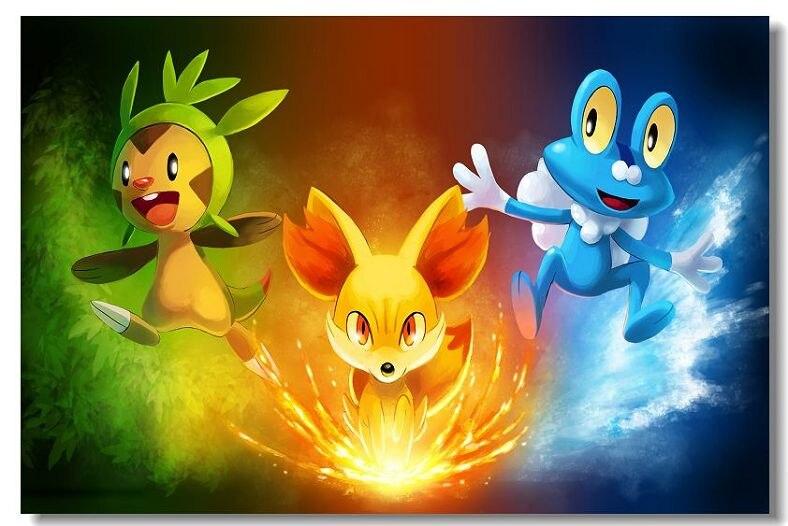 Diy Marco Pokemon Xy Tela Seda Juego Poster Impresion Imagen De