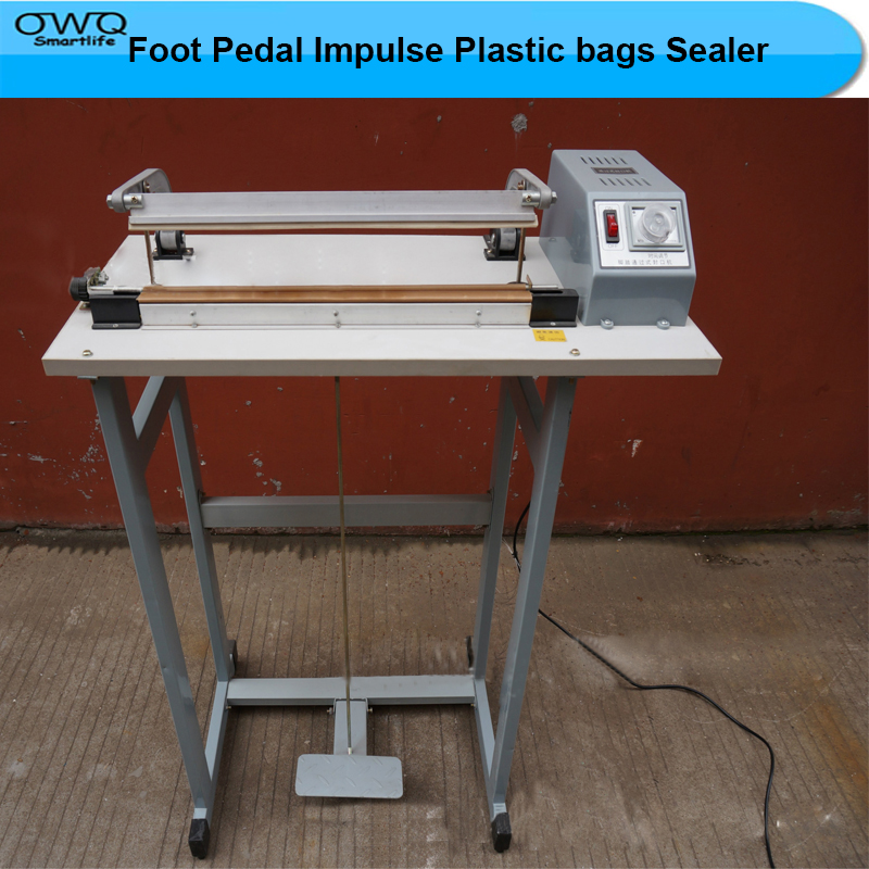 Foot Pedal Impulse Plastic bags Sealer Heat package Sealing Machine shrinking equipment economic packaging tool lx pack lowest factory price foot pedal impulse sealer heat sealing machine plastic bag sealer 300 1400mm pedal sealer
