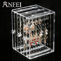 ANFEI New Acrylic Jewelry Display Earring Holder And Jewelry Organizer Earring Organizer Holds Up 135 Pairs