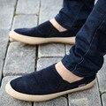 Homens Sapatos Casuais 2016 Moda Verão Respirável Sapatos de Lona Homens Marca Deslizamento em Loafers Homens Sapatos Sandálias Plus Size 38-46