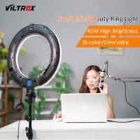 Viltrox VL 600T 45 Вт светодио дный светодиодный видео макияж кольцо свет лампы Двухцветный затемнения + беспроводной пульт дистанционного управле