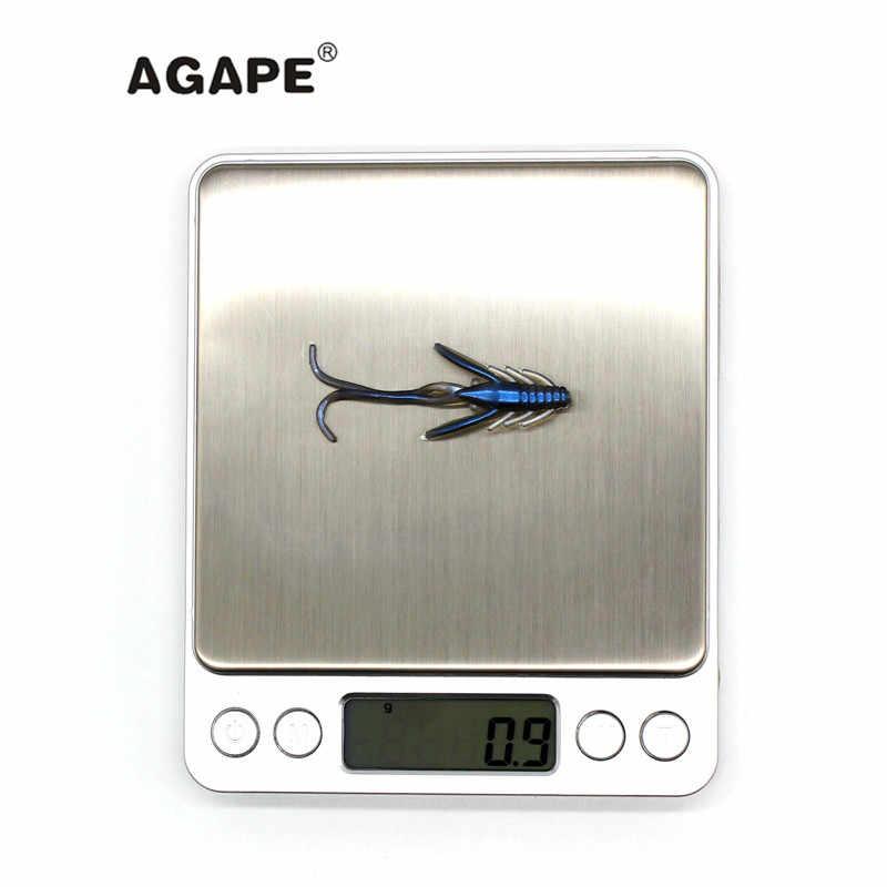 Agape Рыбалка Приманка Мягкая приманка кремния Приманка Мягкая ADSL207/HOG1.5 Смешанный многоцветный 12 шт. 40 мм 0,9 г