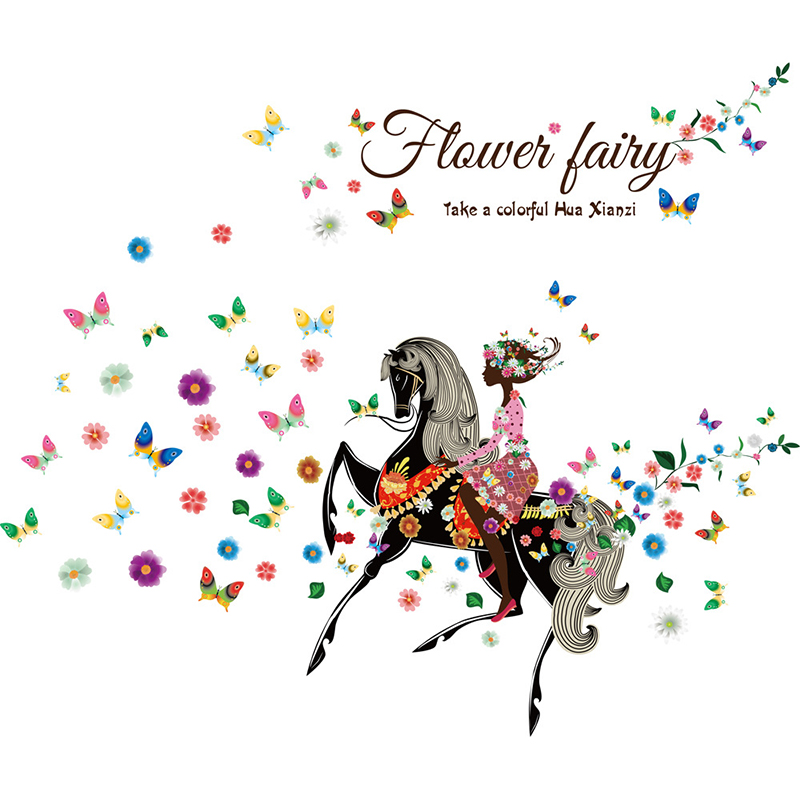 Butterfly Flower Fairy Wall Stickers for Kids Rooms 60