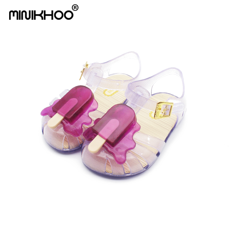Mini Melissa New 4Color Popsicle Jelly Children Shoes Shoes Popsicle Ice  Cream Baby Sandals Cute Melissa Girls Jelly Sandals 49cd6fc19