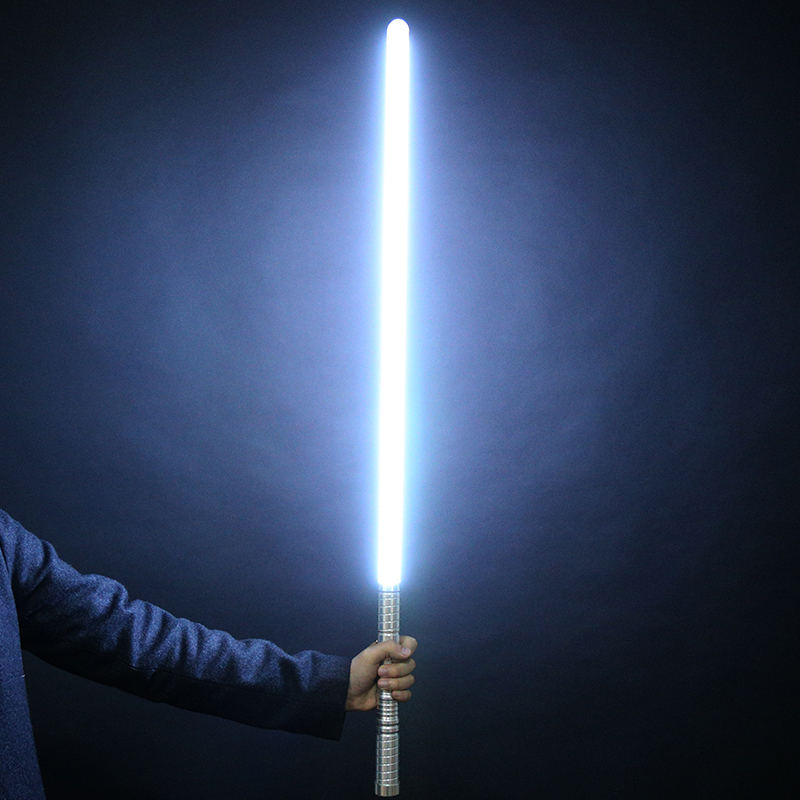 New Sale 1 Pcs Cosplay 100cm Length Lightsaber Sword Flashing Luke Electronic Toy Sky Light Saber Toy Birthday Christmas Gift