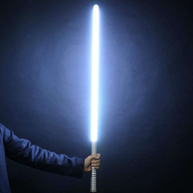 Nouvelle Vente 1 Pcs Cosplay 100 cm Longueur Sabre Laser Épée Clignotant Luke Électronique Jouet Ciel Light Saber Jouet D'anniversaire De Noël cadeau