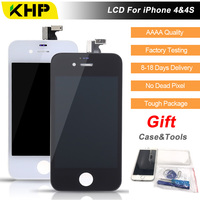 100 KHP Original AAAA Quality LCD For IPhone 4 4s Screen Replacement LCD Display Touch Screen