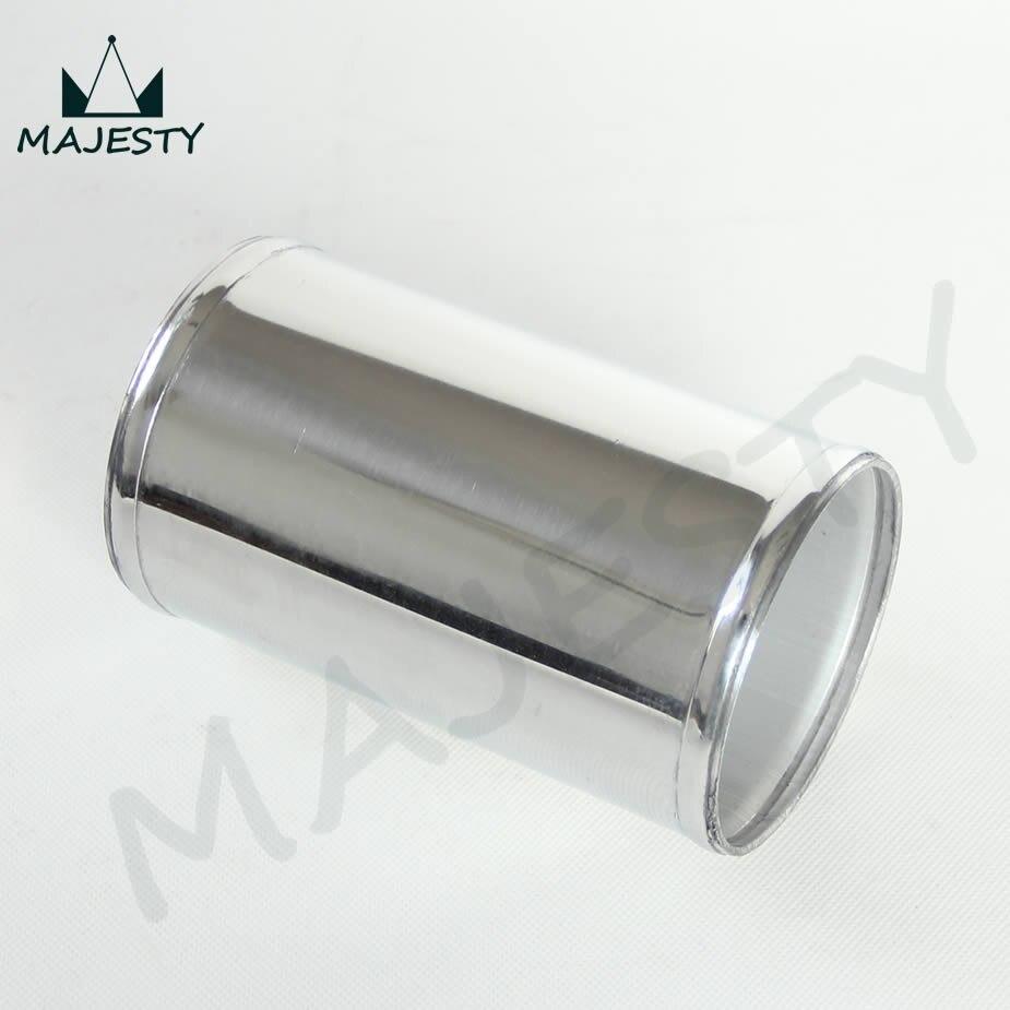 """Tuyau de tuyau Intercooler droit en aluminium   Turbo en aluminium 70mm 2.75 """"po, Tube de tuyauterie droit L = 150mm, couleur argent"""