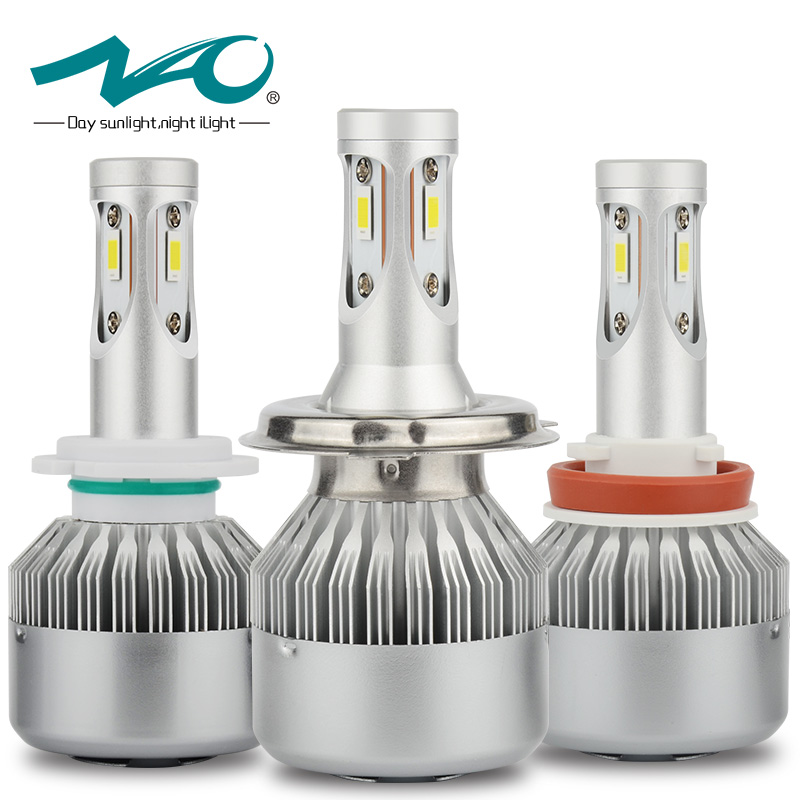 NAO H7 LED H4 led Bulb Car Headlight Kit 12V H11 H8 H9 80W 9000LM Automobiles lamp Auto 6000K White Light 24V Super bright E3 стоимость