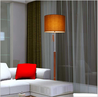 modern brief cottage fabric lampshade leather base e26 floor lamp living room bedroom guest room bedside lamp AC90 260v DY 1547