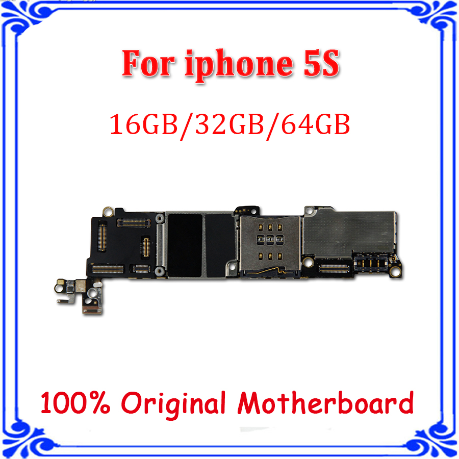 64gb For Iphone 5s Mainboardoriginal Unlocked Parts Electronics Bare Circuit Board Buy 16g 32gb Original Motherboard Mainboard Without Fingerprint Logic Ios System
