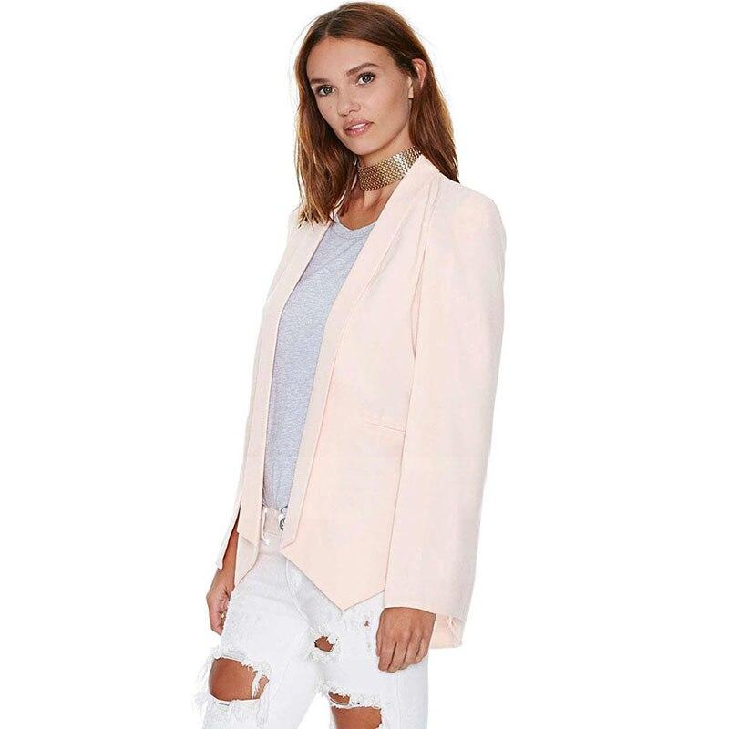 3a07bc203cc Fashion Autumn Blazer Feminino Jacket 2019 Slim Business Women Suit Lapel  Cape Poncho Office Cloak Blazer Coat Chaqueta Mujer-in Blazers from Women's  ...