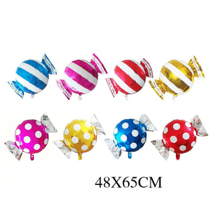 Image 2 - 5Pcs/lot 18 inch Round Lollipop Foil Inflatable Balloon Candy Foil Ballon For Wedding Kids Birthday Party Decoration